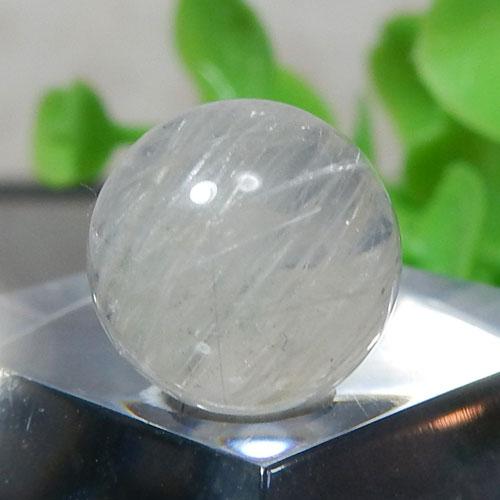 ホワイトルチルクォーツ AAA- ラウンド 約10mm程度 101-0
