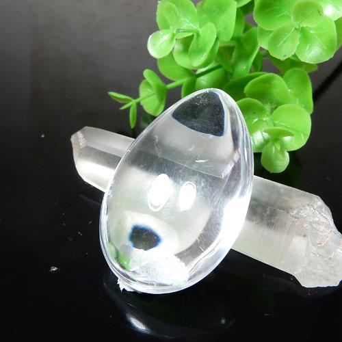 エンジェルラダークォーツ AAA ペアシェイプ 磨き石 003-2