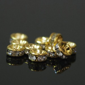 メタルパーツ ロンデル(ゴールド) 約5mm(10個入)