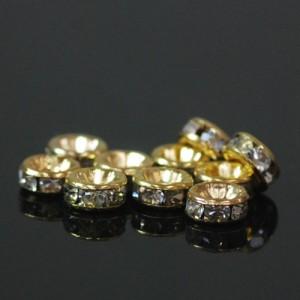 メタルパーツ ロンデル(ゴールド) 約6mm(10個入)
