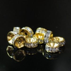 メタルパーツ ロンデル(ゴールド) 約8mm(10個入)